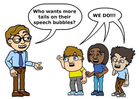 Multiple Text Bubble Tails available now in the Bitstrips Comic Builder!