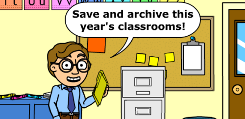 Archive your classrooms