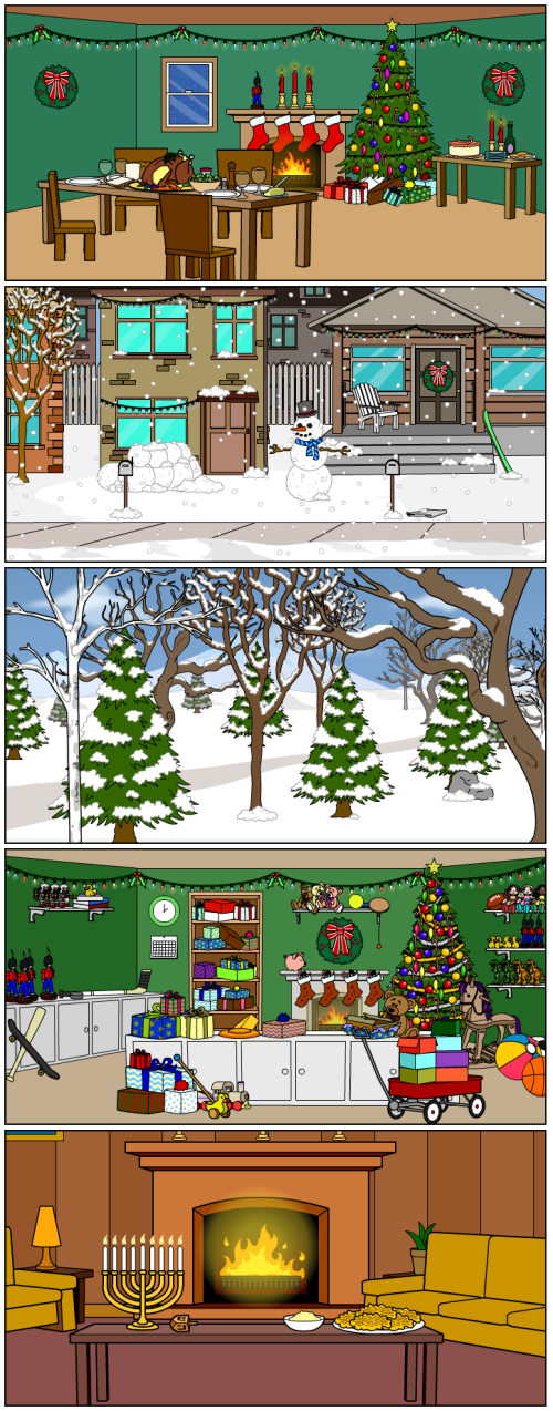 Bitstrips Holidays scenes